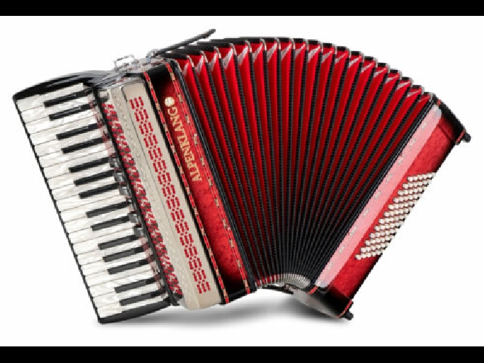 Alpenklang Pro III/72 Accordeon 72 Basses 34 Touche Double Tremolo Musette Rouge